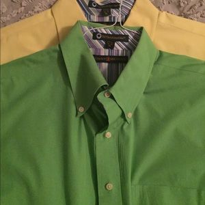 2 men's xl Tommy Hilfiger button down dress shirts